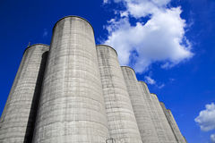 Silos and Sky Royalty Free Stock Images