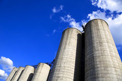 Silos and Sky 2 Royalty Free Stock Photography