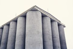 Silos storage tanks containers, silos grain elevators stock photos