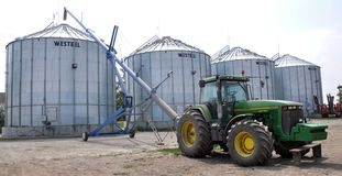 Silos for storing grain Stock Photography