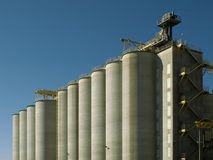 Silos in the sun Royalty Free Stock Photos