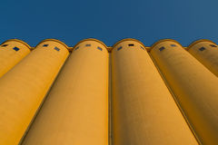 Silos. Tower silos facility for grain storage Royalty Free Stock Images