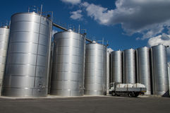 Silos. Tuscany. Silos in tuscany, for wine and cereal storage Royalty Free Stock Photos