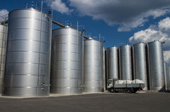 Silos. Tuscany. Silos in tuscany, for wine and cereal storage Royalty Free Stock Images