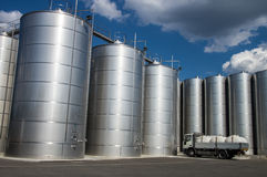 Silos. Tuscany. Silos in tuscany, for wine and cereal storage Royalty Free Stock Photo