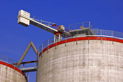 Silos under construction royalty free stock photography
