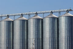 Silos in a warehouse Stock Images
