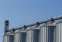 Silos in a warehouse Royalty Free Stock Images