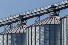 Silos in a warehouse Stock Photography