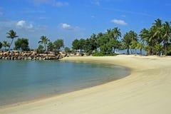 Siloso海滩,圣淘沙,新加坡 库存图片