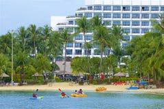 Siloso beach, Sentosa, Singapore royalty free stock photos