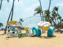 Siloso Beach Sentosa Singapore Stock Images
