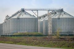 silosy dla rolniczych towarów Obraz Royalty Free
