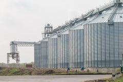 silosy dla rolniczych towarów Zdjęcie Royalty Free