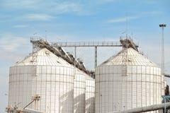 silosy dla rolniczych towarów Fotografia Stock