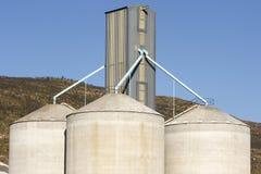 silosy zbóż Zdjęcie Stock
