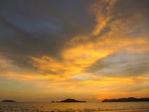 Silouete de mer Photographie stock libre de droits
