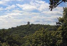 Silouette замка Ha Ha Tonka Стоковые Изображения RF