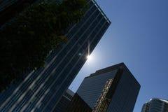 Silouette dell'edificio per uffici Immagini Stock Libere da Diritti