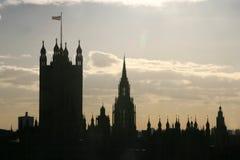 Silouette do edifício Imagem de Stock Royalty Free