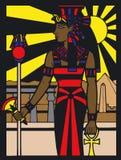 Silouette egipcio ilustración del vector