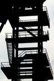 silouette węglowy porzucony górniczy wierza Zdjęcia Stock