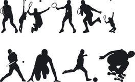 silouettes спортсмена бесплатная иллюстрация