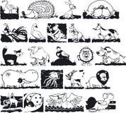 Silouettes animal Fotos de archivo
