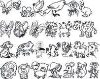 Silouettes animal Fotografía de archivo