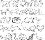 Silouettes animal Imagenes de archivo