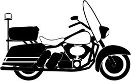 Silouhette de la motocicleta Foto de archivo libre de regalías
