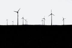 silouhette turbina wiatr Fotografia Stock