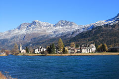 Sils Maria in Engadin near St. Moritz Stock Photography