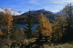 Sils-Maria im Engadin. Nietzsche's places Royalty Free Stock Images