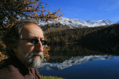 Silsersee. Nietzsche's places Stock Photo