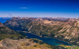 Silsersee od Corvatsch 3303m Obrazy Royalty Free