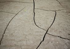Silt Cracks Texture Royalty Free Stock Images