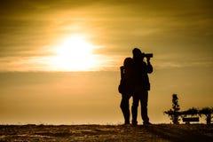Siluate, фотография и женщины пар Стоковая Фотография RF