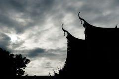 Siluate openbare tempel stock foto's