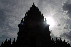 Siluet виска Prambanan Стоковая Фотография