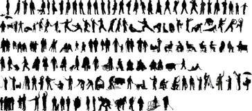 Silueta 1 (+vector) de la gente Imagen de archivo libre de regalías