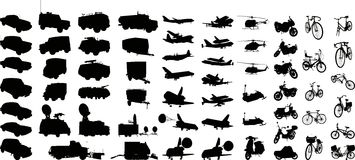 Silueta 1 (+vector) del transporte Fotos de archivo