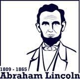 Silueta Abraham Lincoln ilustración del vector