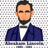 Silueta Abraham Lincoln Imagen de archivo