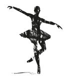 Silueta abstracta de bailarines libre illustration