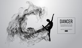 Silueta abstracta de una muchacha dencing, mujer, bailarina en el fondo blanco Ballet y danza moderna