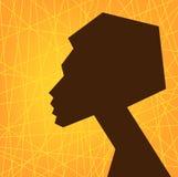 Silueta africana de la cara de la mujer, estilizada Fotos de archivo