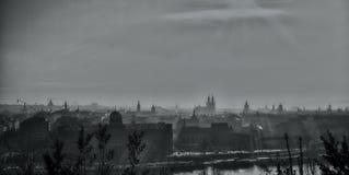 silueta agradable de Praga Fotos de archivo libres de regalías