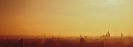silueta agradable de Praga Imagen de archivo libre de regalías