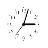 Silueta analogica enmascarada del dial de la cara de reloj foto de archivo